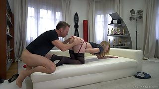 Rocco Siffredi stretched Russian anal crevice and pussy of horrific chick Kiara Night