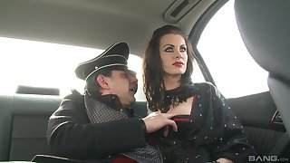 German MILF brunette babes in costumes turtle-dove one big fast cock