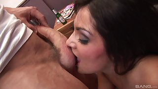 Jasmine Webb gluteus maximus fucked and jizzed on face in dirty trio