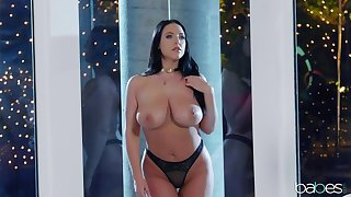After a blowjob Angela White got her ass fucked by her handsome lover