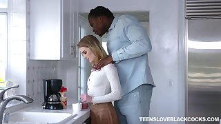 White teen Natalie Knight is craving for a huge black phallus be required of her stepdad