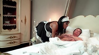 Despondent anal for the ebony maid with the older master