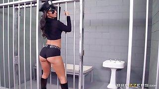 Prison guard banged two sluts : Anikka Albrite and Jada Stevens