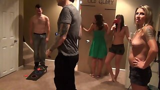 Amateur wife Gianna nigh their way artful ever swinger sex party. HD