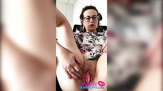 Horny Teacher Pussy Fucks Sex Toys and has Orgasm