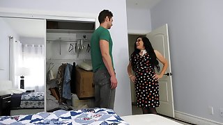 Of age son fucks her stepson's friend while he's not convenient quarters