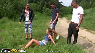 Naughty, suntanned loveliness with puny cupcakes, Zaza La Coquine Louise had gang fuck-a-thon with insane mates