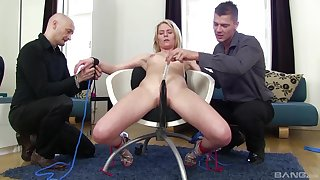 Claudia Macc enjoys being tied up nearly a chair and fucked by her hubby
