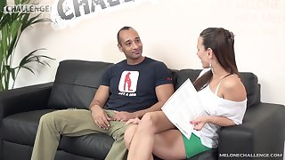 Czech pornstar Mea Melone is disappointed by her big dicked nut