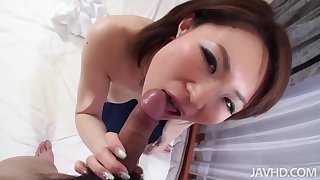 Honcho Gorgeous Miki Uemura Hairy Pussy Pounded Away from Cock