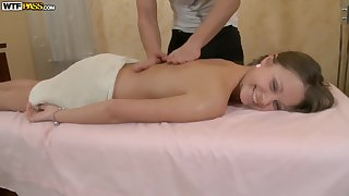 Young cutie is massaged and fucked here