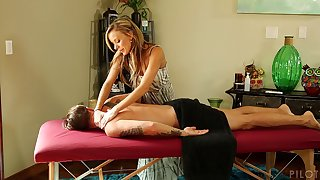 Nice massage leads to passionate fucking with sexy Pristine Egde