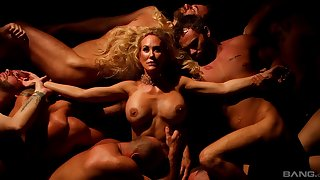 Erotic mating with big fake tits pornstar Brandi Love