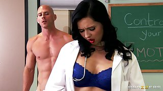 Threesome shafting on the enter with Allison Star and Angell Summers