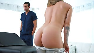 Betty gets hungry for her masseur's big cock and she is so curvy