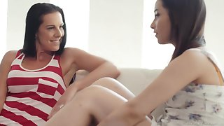 Texas Patti and Aria Lee are licking each others pussy and moaning detach from pleasure while cumming