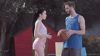 Natty explicit gets intimate with her basketball mate