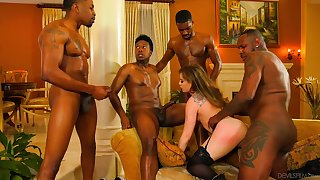 Black thugs ration this wife in crazy XXX scenes