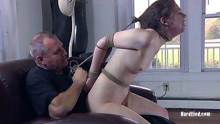 Small tits amateur explicit Kristine Andrews moans with pleasure