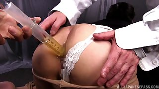 Round ass Japanese Ouka Fujimura gets fucked by her kinky man