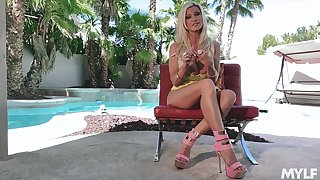 Legendary cougar Brittany Andrews gives an interview