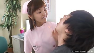 Mild fucking between a patient and Asian be concerned Mizutori Fumino