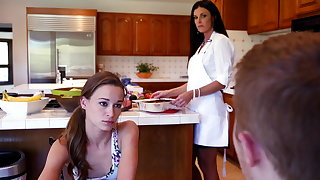 Phone carnal knowledge with gf's stepmom loops into