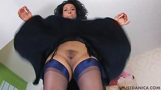 Clumsy video be incumbent on Danica Collins showing her pussy be worthwhile for the camera